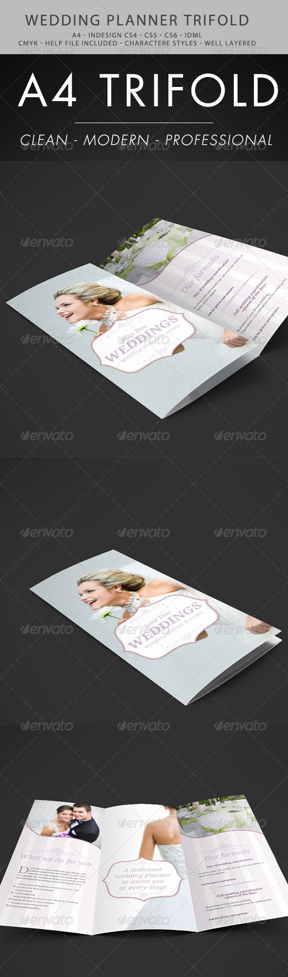 GraphicRiver Wedding Planner Trifold 3861949