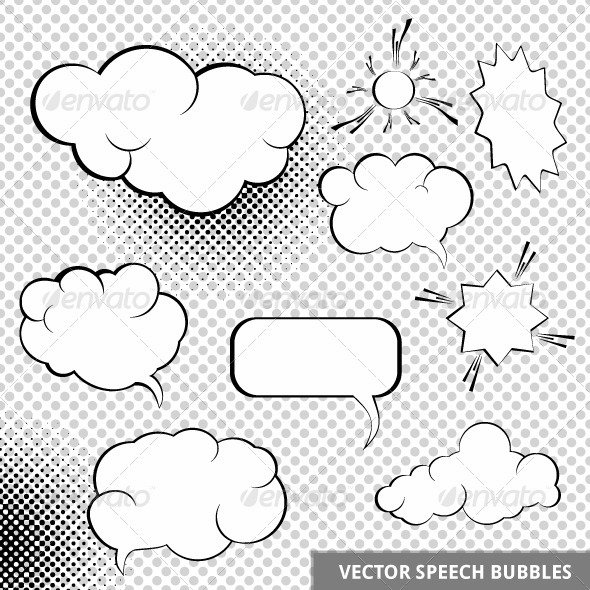 GraphicRiver Vector Speesh Design Elements 3818794