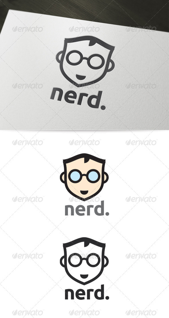 GraphicRiver Nerd Logo 3945516