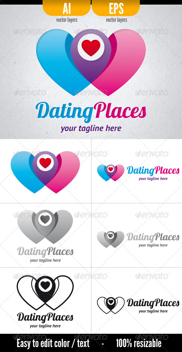 GraphicRiver Dating Places Logo 3745417