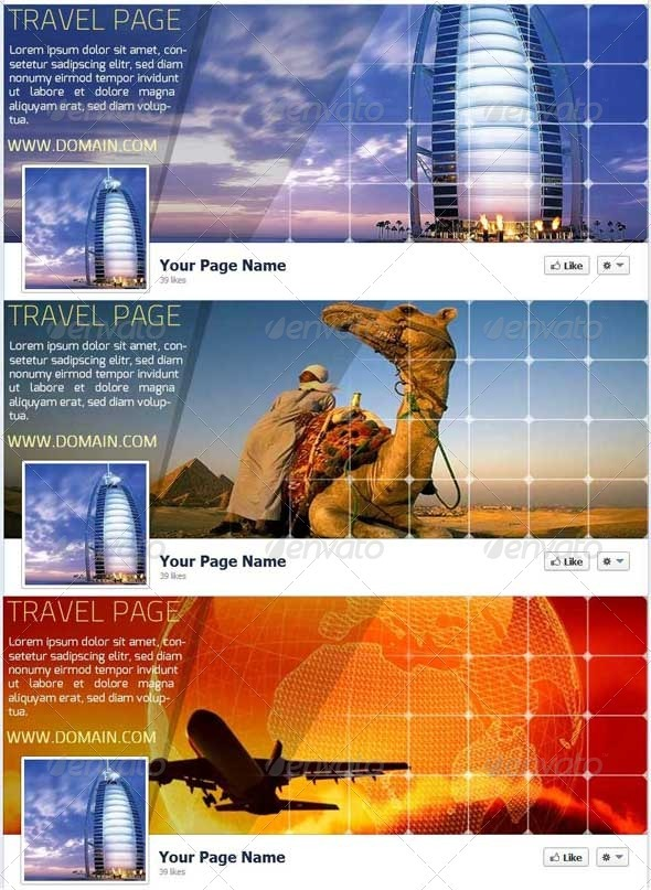 GraphicRiver Travel FB Timeline Cover 3865553