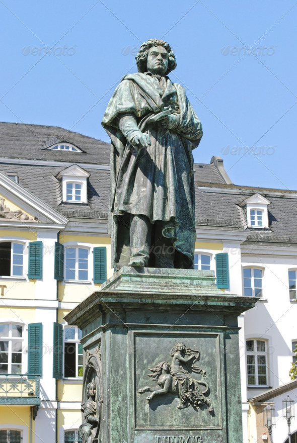 Monument of Ludwig van Beethoven in Bonn - Stock Photo - Images