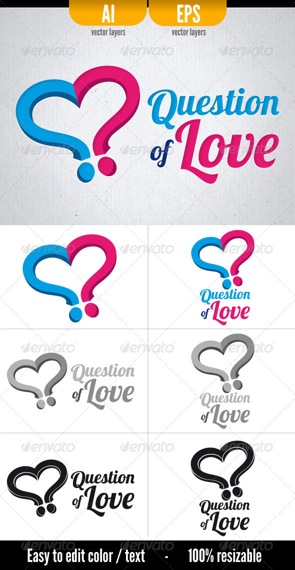 question of love graphicriver. Black Bedroom Furniture Sets. Home Design Ideas