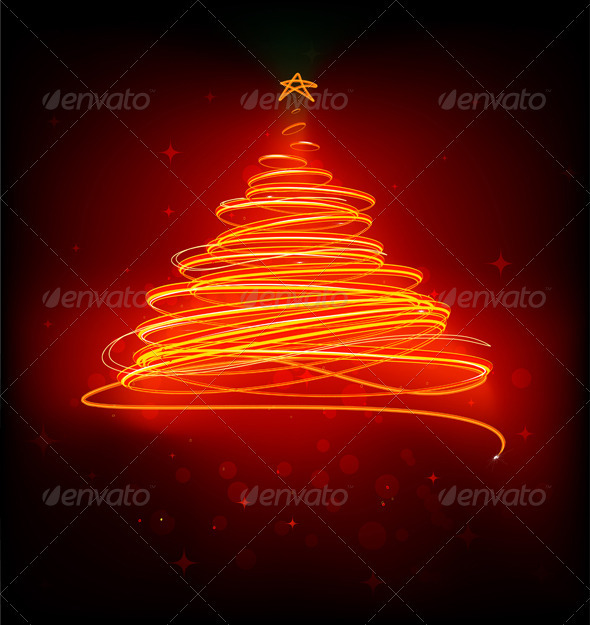 GraphicRiver Abstract Christmas tree 3945676
