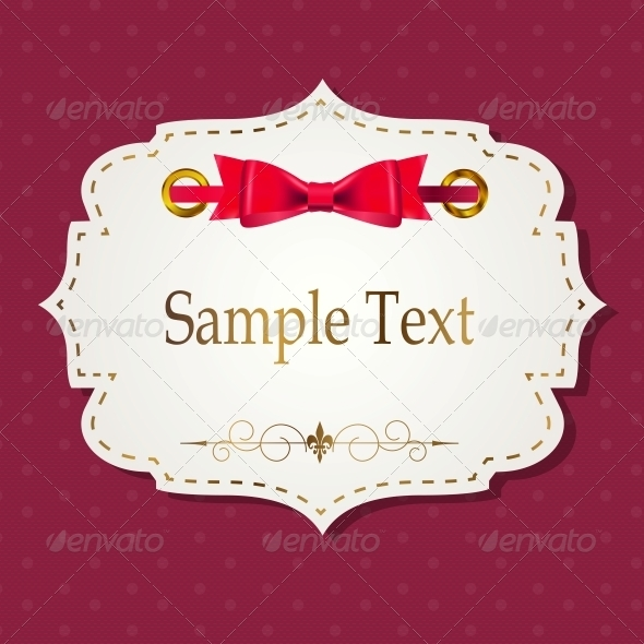 Gift Card with Ribbons Vector