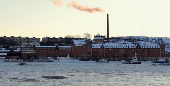 Sunset Over Winter Stockholm