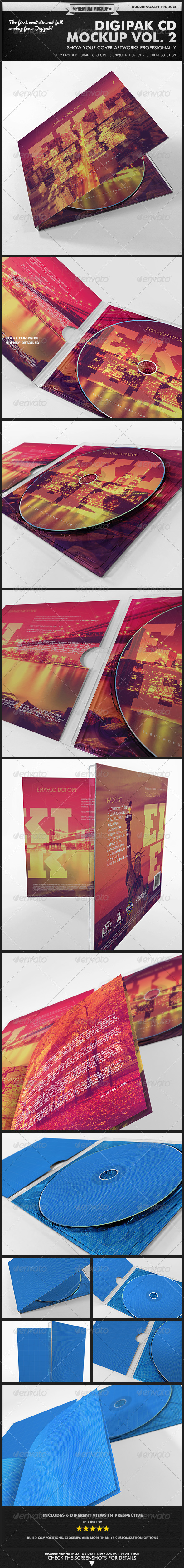 Digipak CD Mockup Vol. 2 - Kit - Discs Packaging