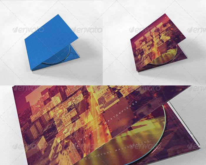 Digipak CD Mockup Vol. 2 - Kit