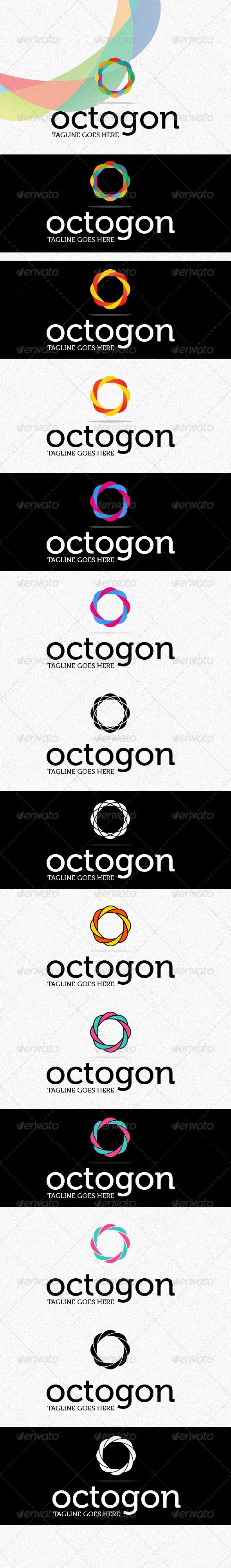 Octogon Logo - Vector Abstract