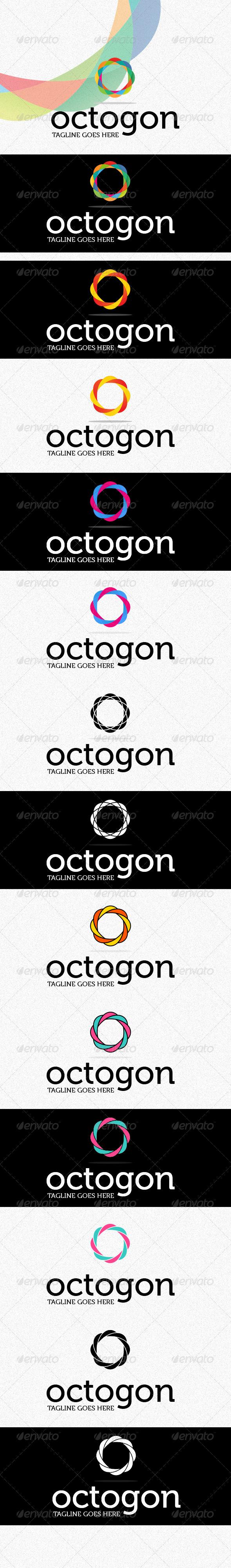 Octogon Logo - Vector Abstract