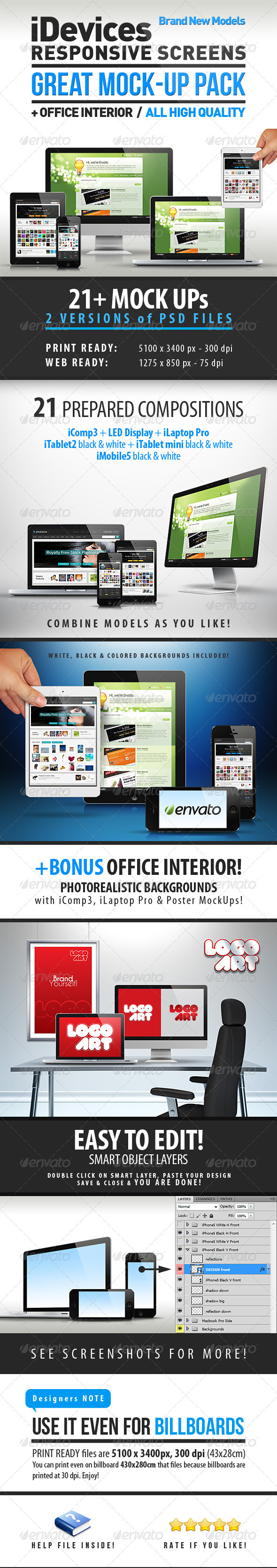 GraphicRiver iDevices Responsive Great Mock-Up 3864479