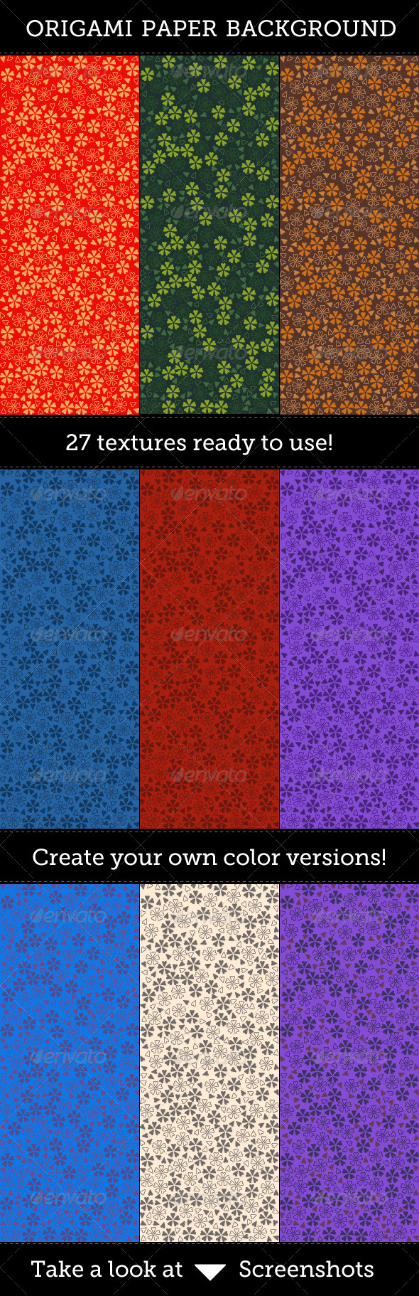 Origami Paper Backgrounds
