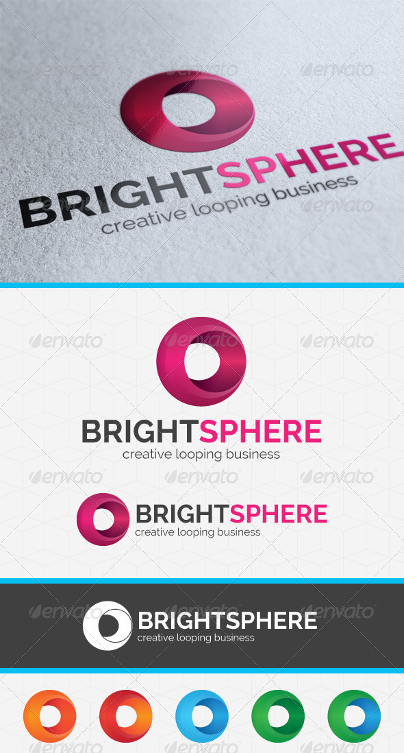 GraphicRiver Bright Sphere Logo Template 3947373