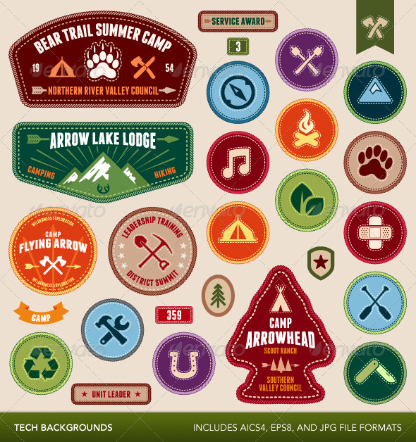 GraphicRiver Scout Badges 3947687