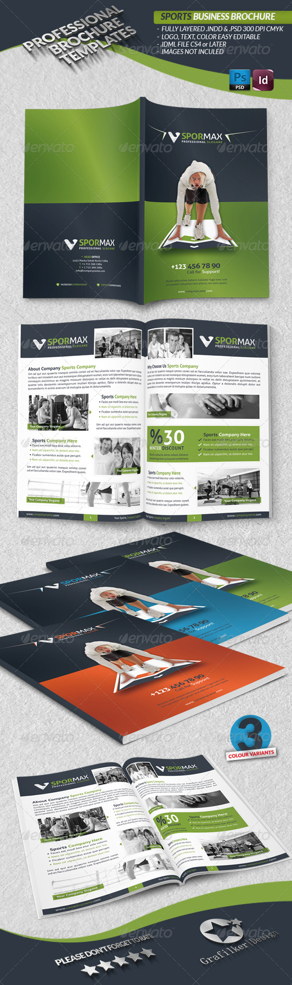 GraphicRiver Sports Business Brochure 3948240