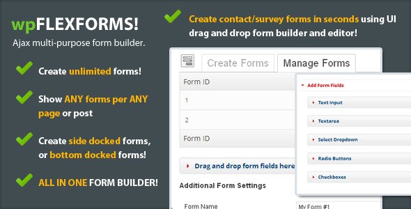 CodeCanyon FlexForms Ajax Form Builder for WordPress 3929521