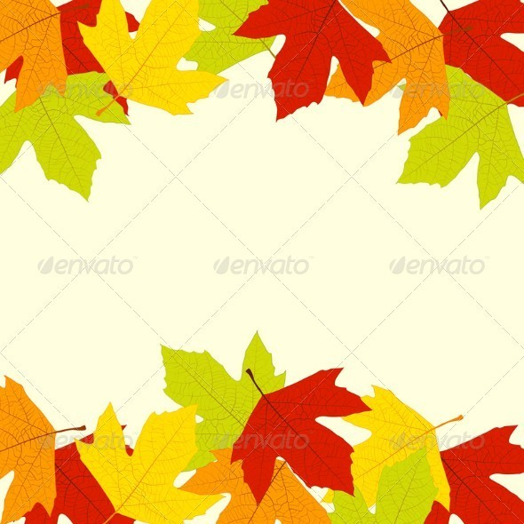 GraphicRiver Autumn Leaves Frame 3948496