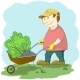 Gardener with Wheelbarrow - GraphicRiver Item for Sale