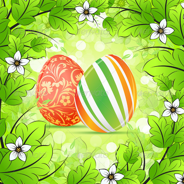 GraphicRiver Easter Frame Background 3949185