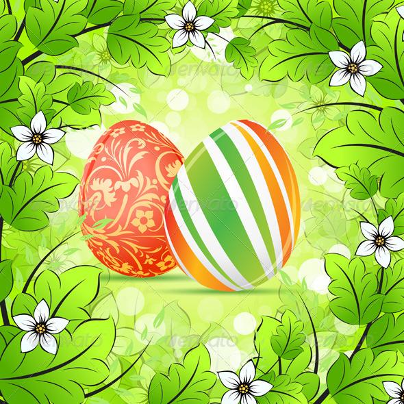 GraphicRiver Easter Frame Background 3949185