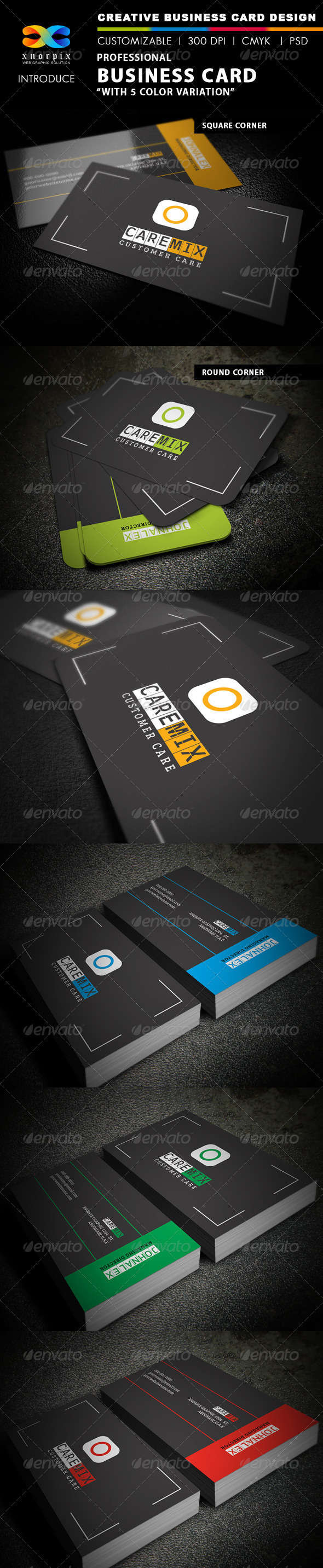 Customer Care Business Card - Creative Business Cards