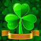 Vector Patrick's Greeting Card with Clover - GraphicRiver Item for Sale