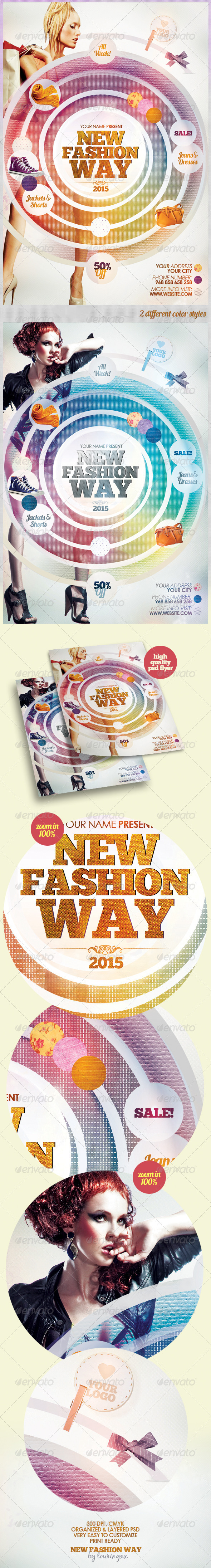 New Fashion Way Flyer Template - Miscellaneous Events