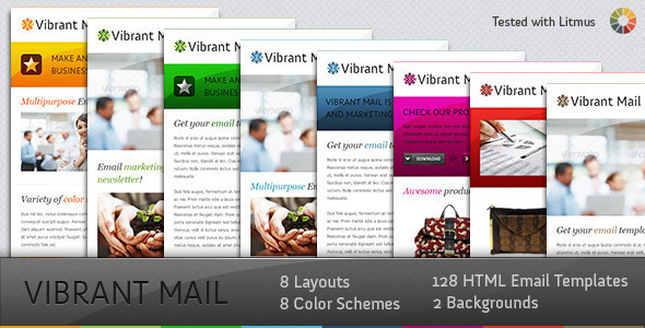 Vibrant Mail - Colorful Email Template with Layout Generator