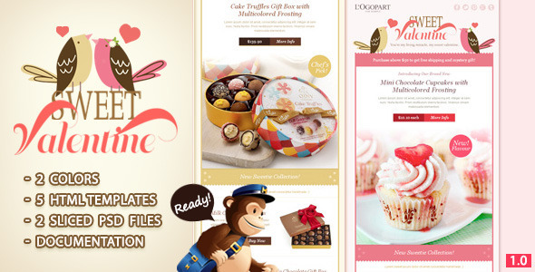 ThemeForest Sweet Valentine Email Template 3950166