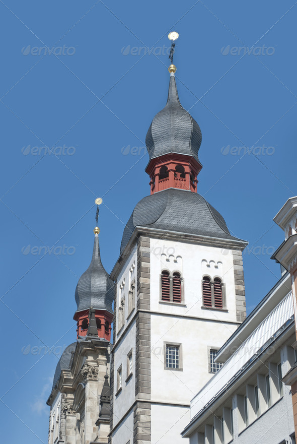 Name of Jesus Church in Bonn - Stock Photo - Images