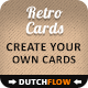 Create Your Own Retro Business Cards Kit - GraphicRiver Item for Sale