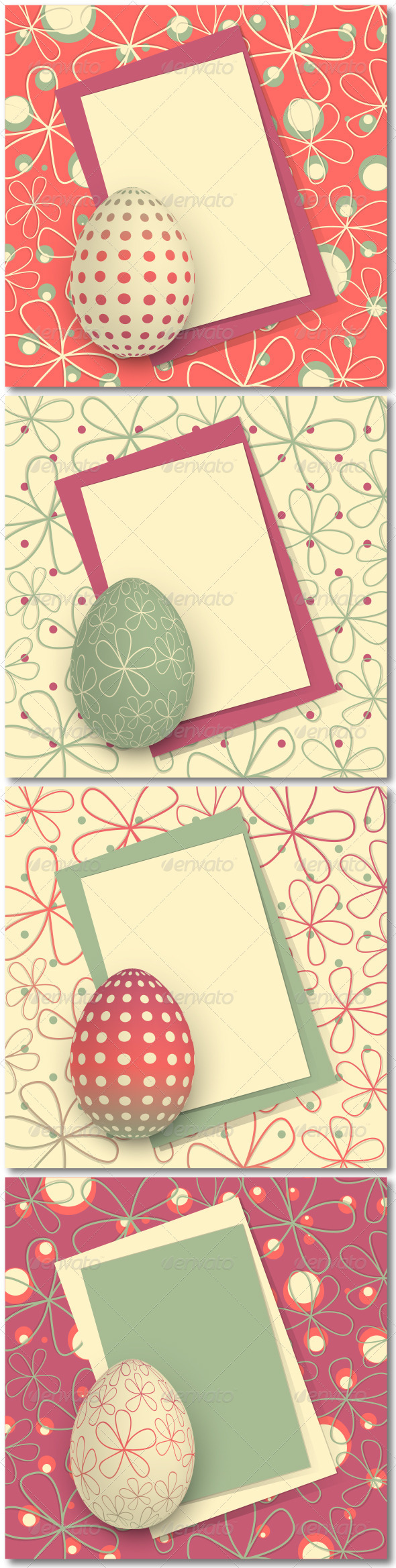 GraphicRiver Four Easter Cards 3950335