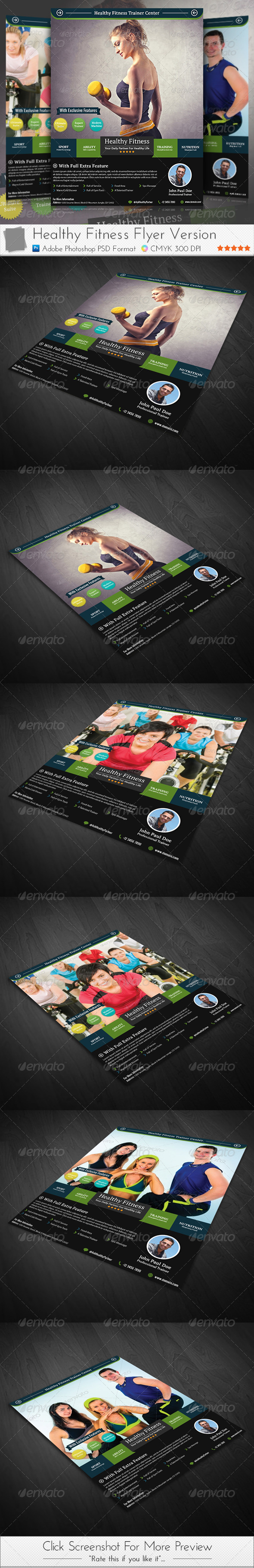 GraphicRiver Healthy Fitness Flyer 3950600