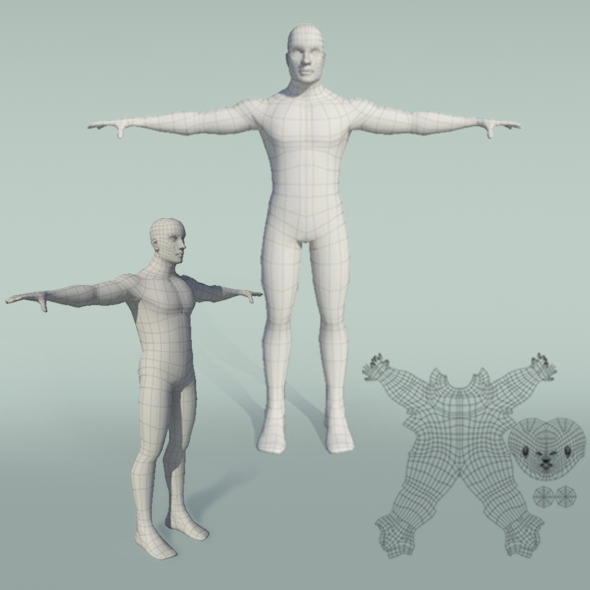 3DOcean Generic Male Body 3950668