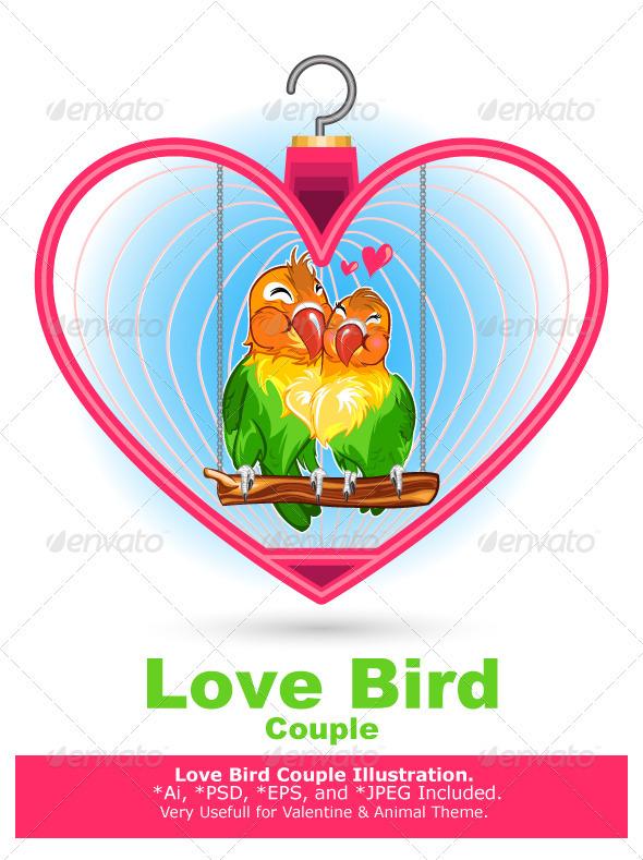 GraphicRiver Valentine Love Bird 3950732