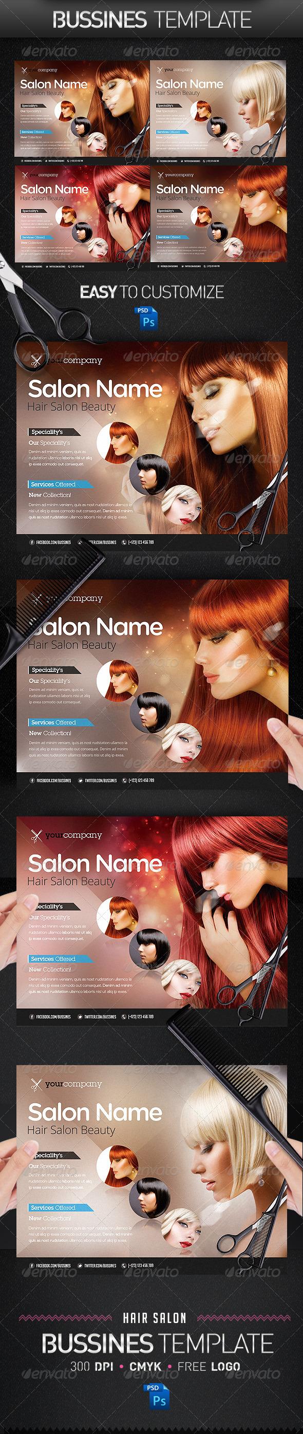 GraphicRiver Hair Salon PRO Bussines Promotional Flyer 3950786