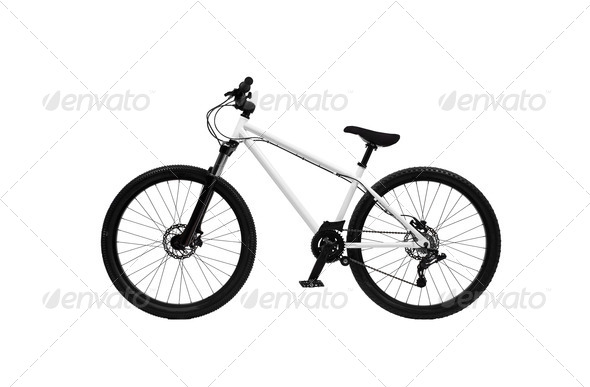PhotoDune Bicycle on a white background 3963991