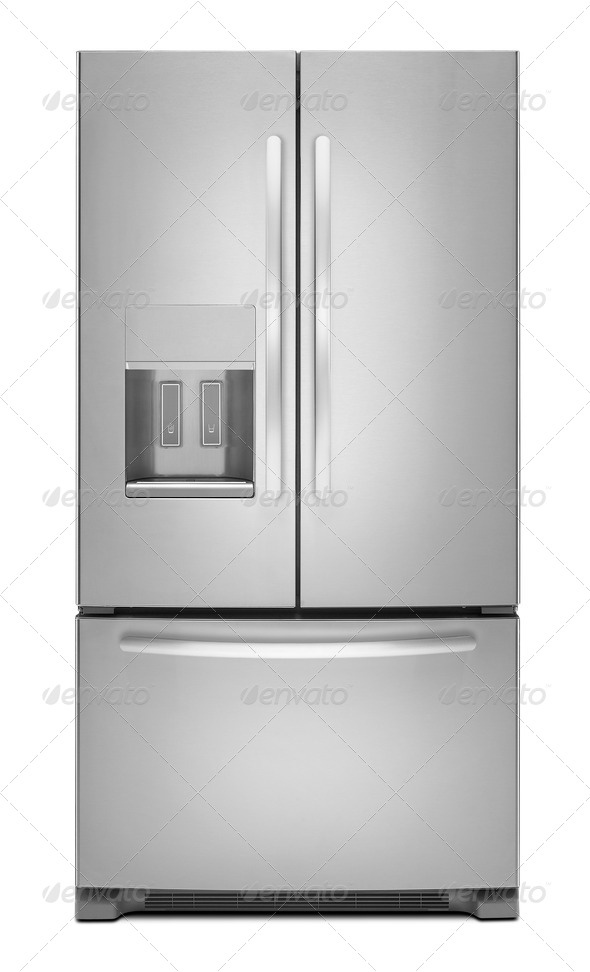 PhotoDune clipping path of the double door freezer 3963992