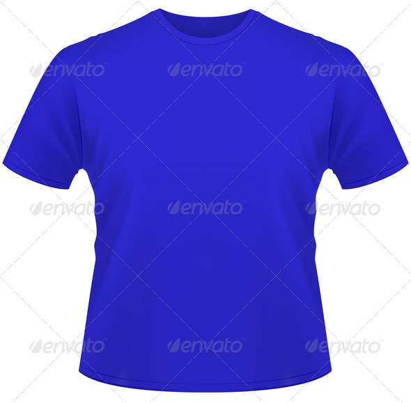 PhotoDune Blue T-shirt isolated on white background 3963998