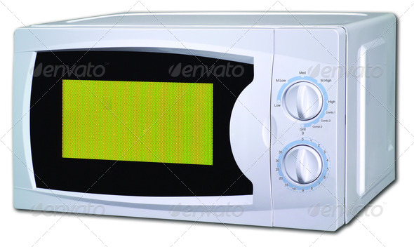 PhotoDune Image of the microwave oven on a white background 3964001
