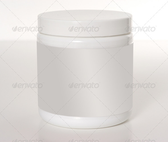 PhotoDune close up of beauty cream container on white background 3964021