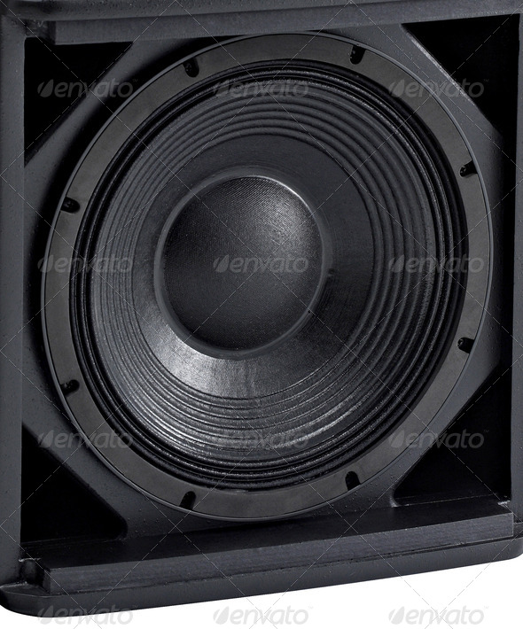 PhotoDune Stereo music audio equipment bass sound speaker 3964020