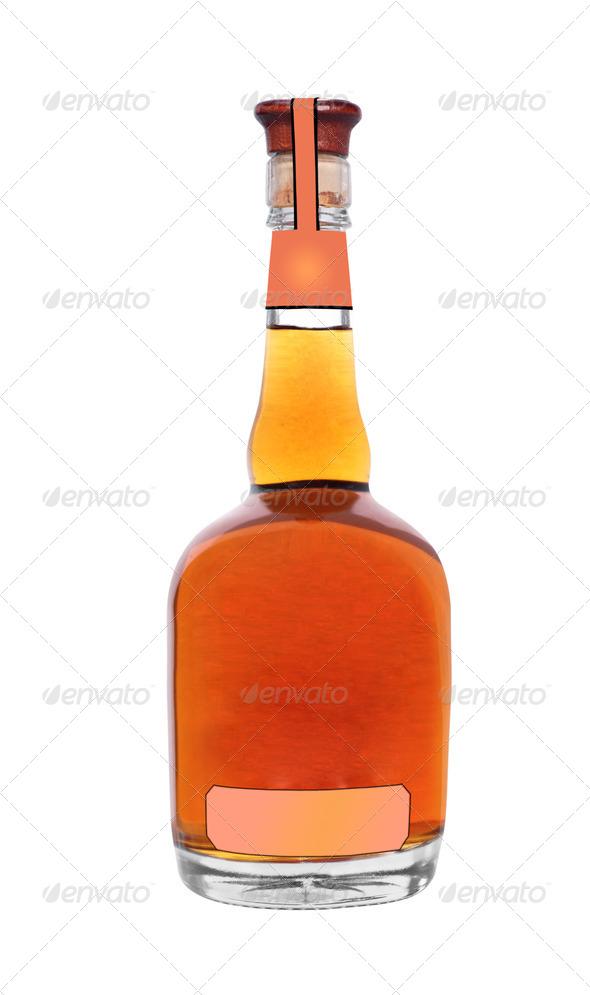 PhotoDune Brandy bottle isolated on a white background 3964146
