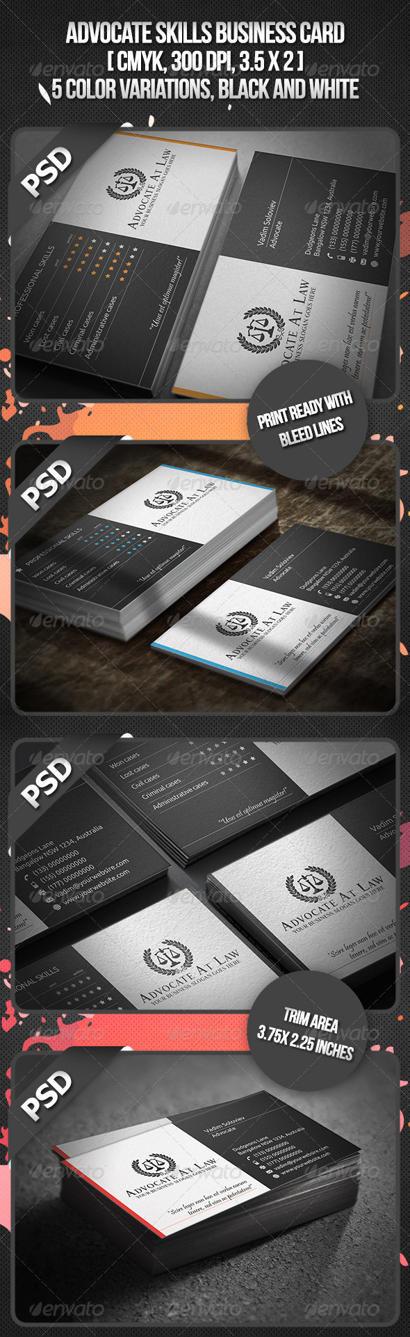 GraphicRiver Advocate Skills Business Card 3951724