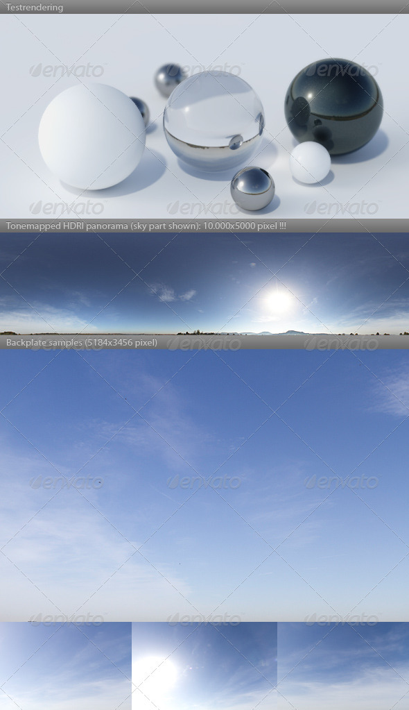 3DOcean HDRI spherical sky panorama 1218- summer sun sky 3951730