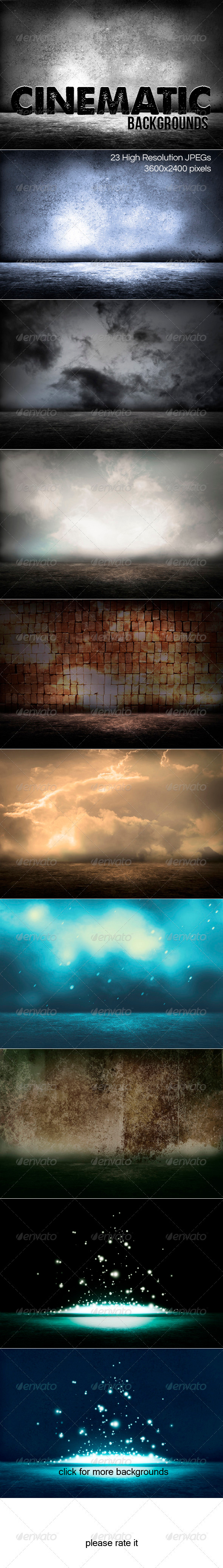Cinematic Backgrounds - 3D Backgrounds