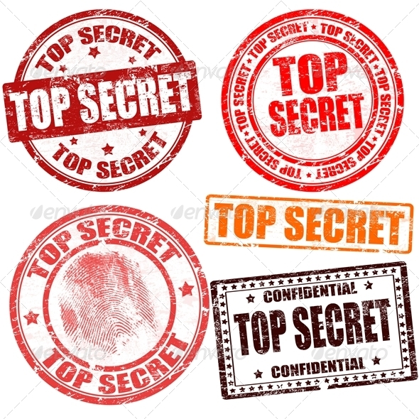 GraphicRiver Top Secret Stamp Collection 3951792