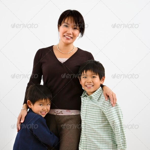 Mother and children - Stock Photo - Images