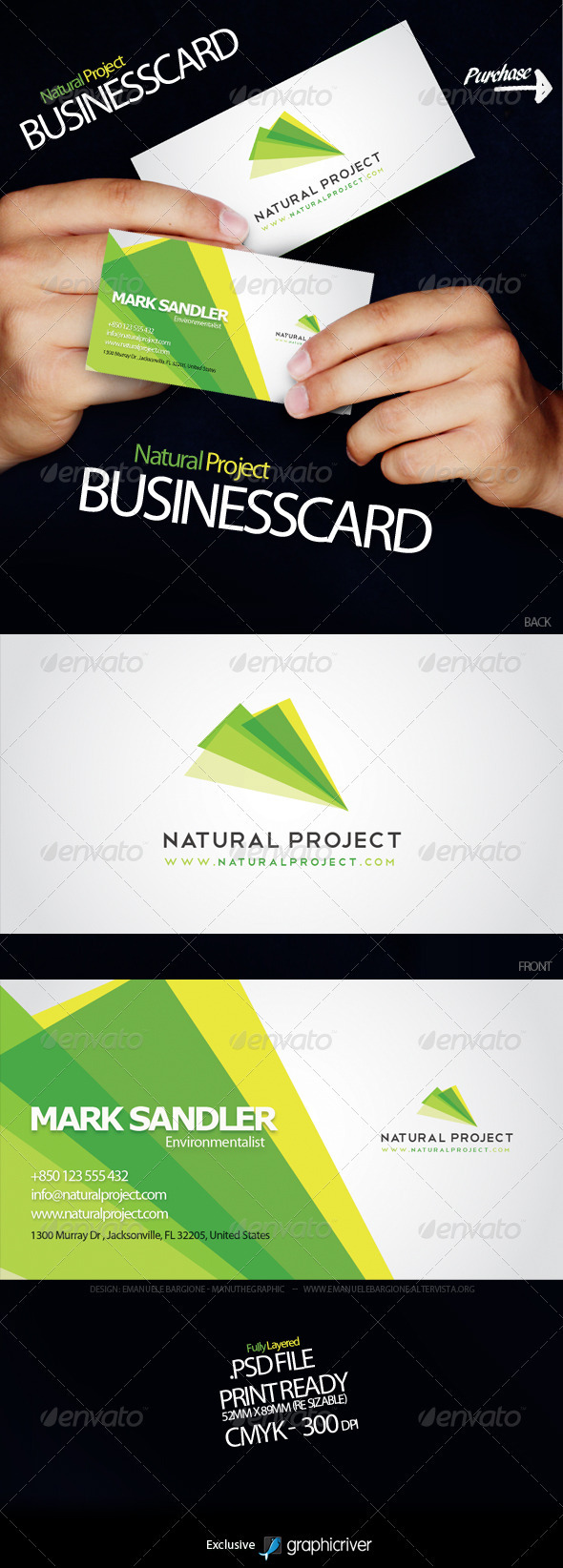 GraphicRiver Natural Project Business Card 426665