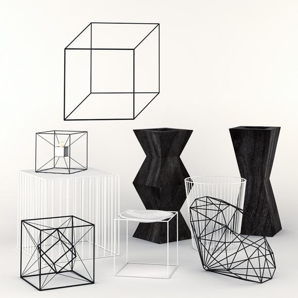 Geometric Decorations Set - 3DOcean Item for Sale